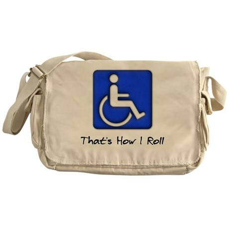 That's How I Roll Canvas Messenger Bag