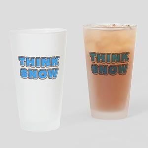 Think Snow Drinking Glass
