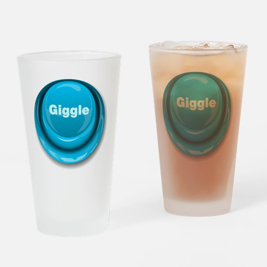 Giggle Button Drinking Glass
