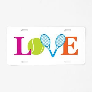"""""""Love"""" Aluminum License Plate"""