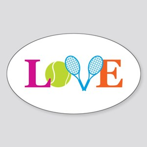 """Love"" Sticker (Oval)"