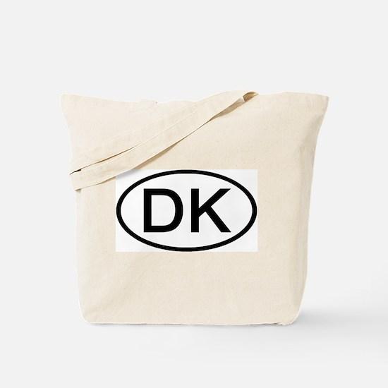 DK - Initial Oval Tote Bag