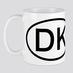 DK - Initial Oval Mug