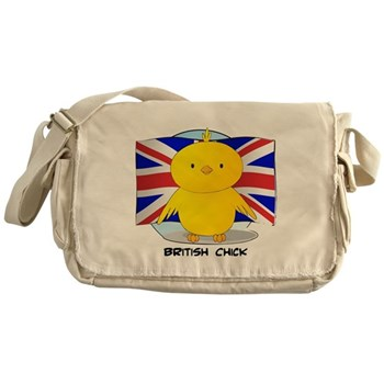 British Chick Canvas Messenger Bag