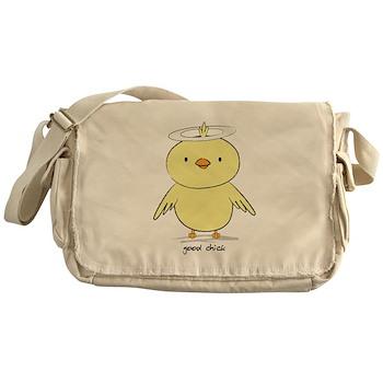 Good Chick Canvas Messenger Bag