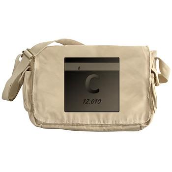 Carbon (C) Canvas Messenger Bag
