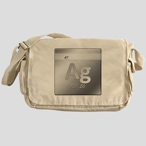 Silver (Ag) Canvas Messenger Bag