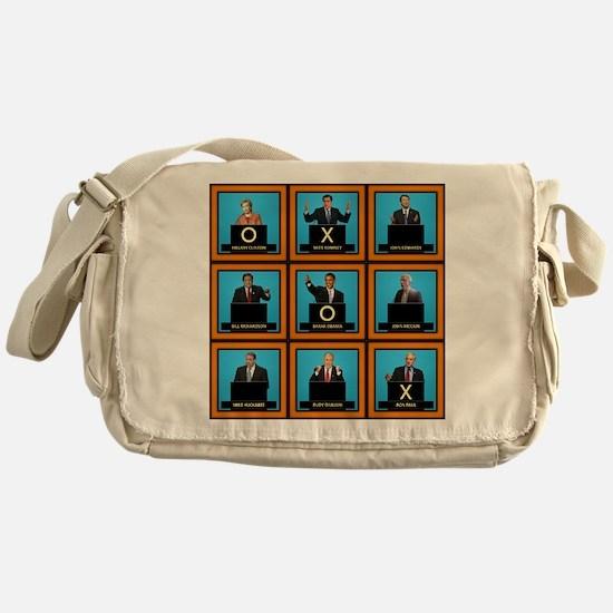 Presidential Squares Canvas Messenger Bag