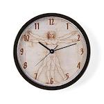 Vitruvian Man Wall Clock