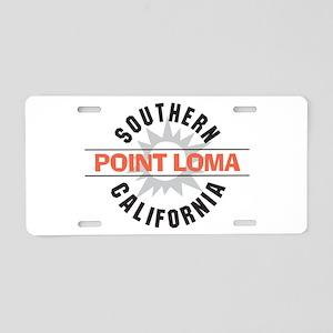 Point Loma California Aluminum License Plate