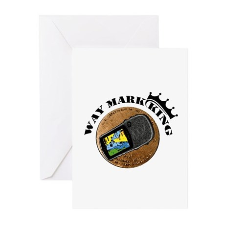 Waymarking King Greeting Cards (Pk of 10)