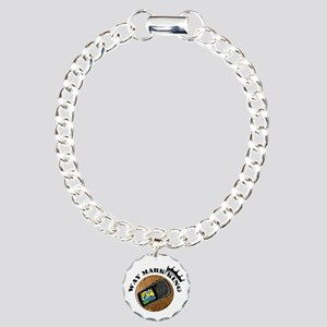 Waymarking King Charm Bracelet, One Charm