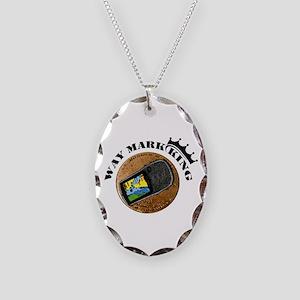 Waymarking King Necklace Oval Charm