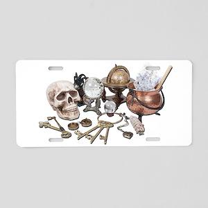 Skull_Keys_Witch_Desk_Items Aluminum License Plate