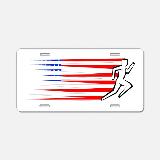 Athletics Runner - USA Aluminum License Plate
