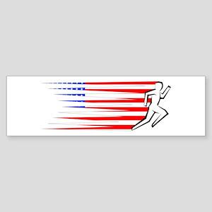 Athletics Runner - USA Sticker (Bumper)