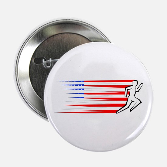 "Athletics Runner - USA 2.25"" Button (100 pack)"