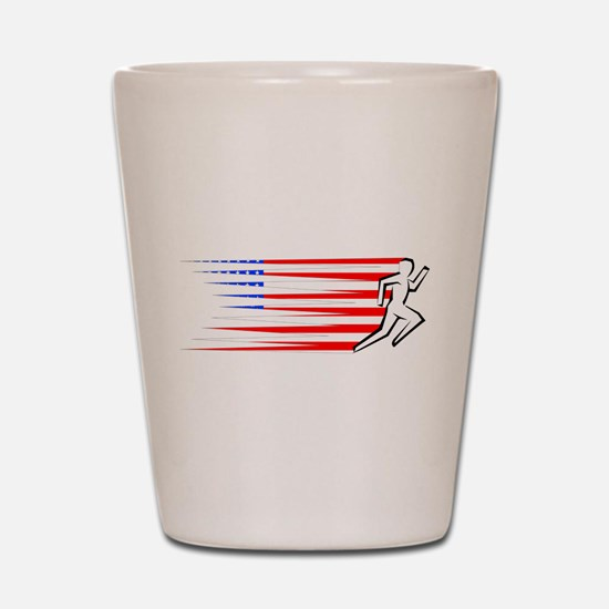 Athletics Runner - USA Shot Glass