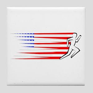 Athletics Runner - USA Tile Coaster