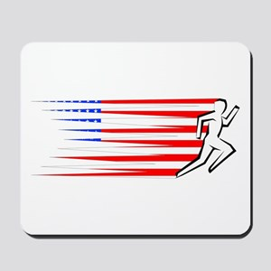 Athletics Runner - USA Mousepad