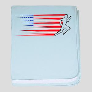 Athletics Runner - USA baby blanket