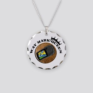 Waymarking Queen Necklace Circle Charm