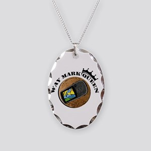 Waymarking Queen Necklace Oval Charm