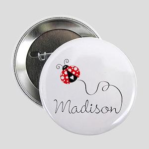 """Ladybug Madison 2.25"""" Button"""