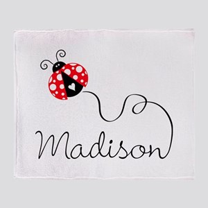 Ladybug Madison Throw Blanket