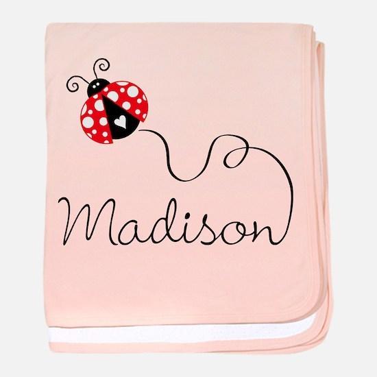 Ladybug Madison baby blanket