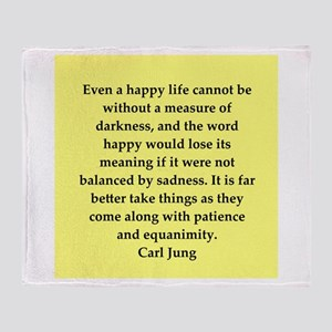 Carl Jung quotes Throw Blanket