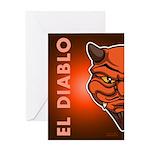 El Diablo Greeting Card