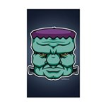 Frankenstein's Monster Sticker (Rectangle 10 pk)
