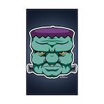 Frankenstein's Monster Sticker (Rectangle 50 pk)