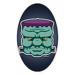 Frankenstein's Monster Sticker (Oval)