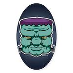 Frankenstein's Monster Sticker (Oval 50 pk)