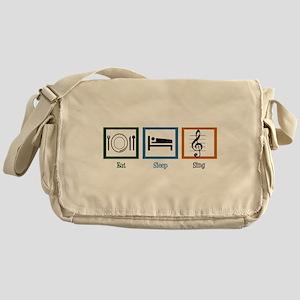 Eat Sleep Sing Messenger Bag