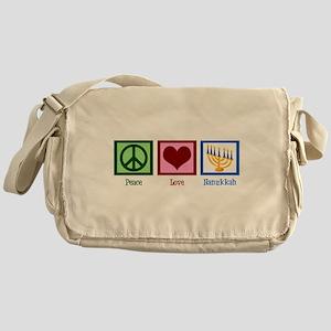 Peace Love Hanukkah Messenger Bag