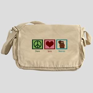 Peace Love Beavers Messenger Bag