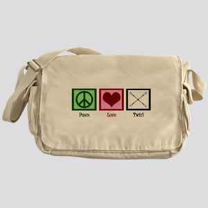 Peace Love Twirl Baton Messenger Bag