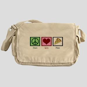 Peace Love Pizza Messenger Bag