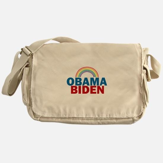 Obama Rainbow Messenger Bag