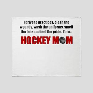Hockey Mom Throw Blanket