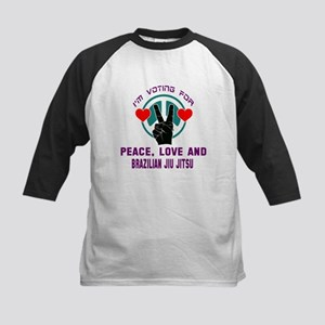 I'm voting for Peace, Love An Kids Baseball Jersey