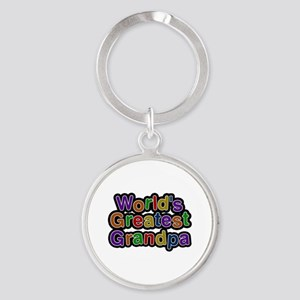 World's Greatest Grandpa Round Keychain