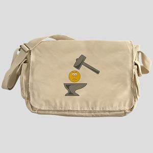 Anvil Smiley Face Messenger Bag