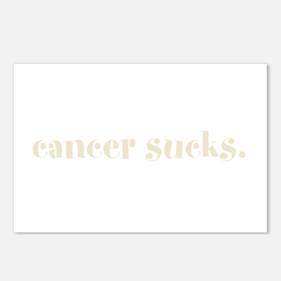cancer sucks. (words to live Postcards (Package of