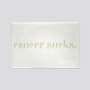 cancer sucks. (words to live Rectangle Magnet