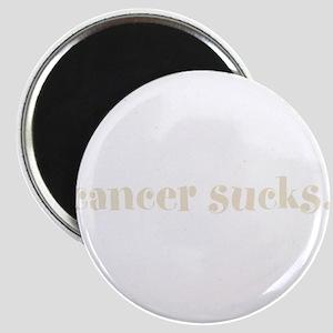 cancer sucks. (words to live Magnet
