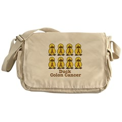 Colon Cancer Awareness Ribbon Messenger Bag